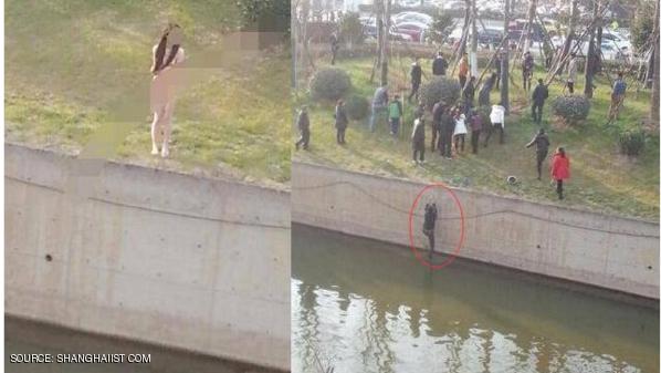 أنقذ فتاة عارية من الغرق.. فتركوه يعاني
