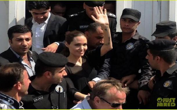 أنجلينا جولي في دهوك لتفقد أحوال النازحين