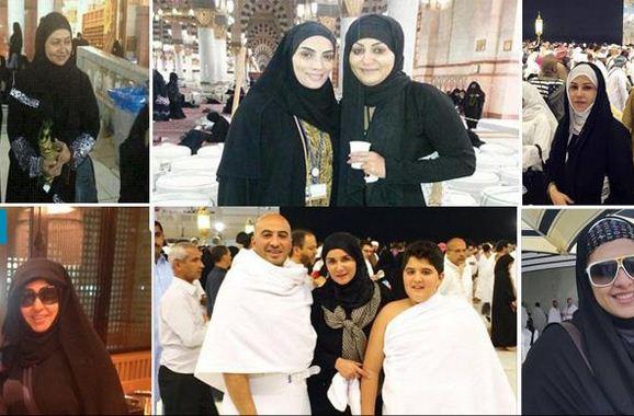 بالصور ...الفنانات بالحجاب وبدون ماكياج في الحرم المكي