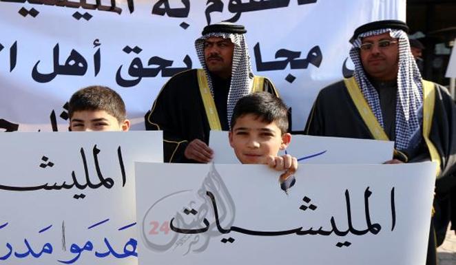 تظاهرات منددة بانتهاكات الجيش في الرمادي