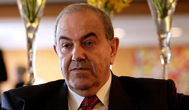 علاوي: حصلنا على أسلحة من السعودية ومصر لمحاربة