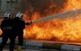 حريق داخل سوق شعبية بمدينة الصدر شرقي بغداد