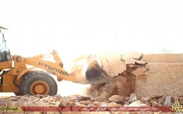 #داعش يواصل تدمير المواقع الأثرية في ليبيا
