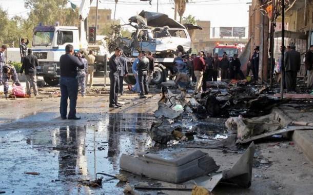مقتل واصابة 26 مدنيا بانفجار سيارة مفخخة في المنصور غرب بغداد (صور)