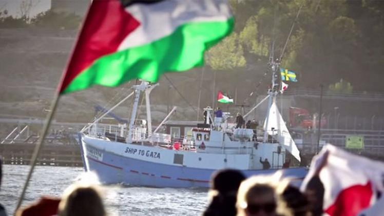 """إسرائيل تستولي على""""موبايل"""" المرزوقي وتعرقل """"سفن كسر الحصار"""" خوفا من تأسيس """"ميناء بحري"""" لغزة"""