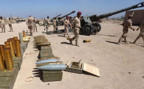 القوات العراقية تنسحب امام داعش غرب بغداد