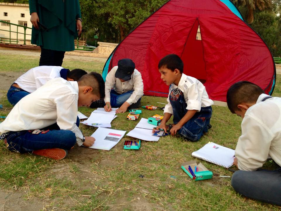 صروح الثقافة تشجع 100 طفل في كرنفال ببغداد على زراعة الزهور والاهتمام بالنظافة