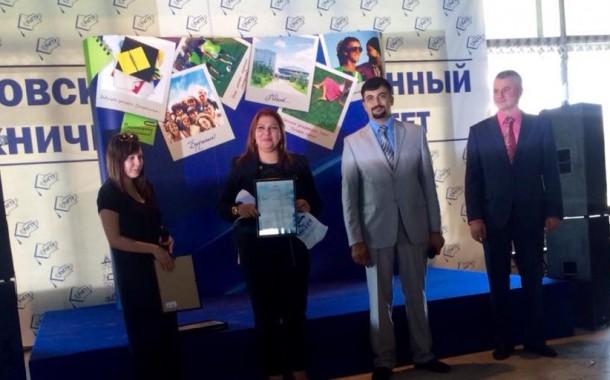 جامعة اوليانوفيس الروسية تمنح الناشطة والإعلامية زينب الكعبي شهادة تقديرية