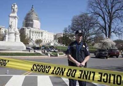 إصابة شرطي بإطلاق نار على مركز الزائرين في الكونغرس الأمريكي والقبض على المسلح