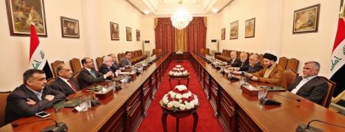 الرئاسات وقادة الكتل يبحثون الشراكة بالتعديل الوزاري وتشكيل مجلس سياسي