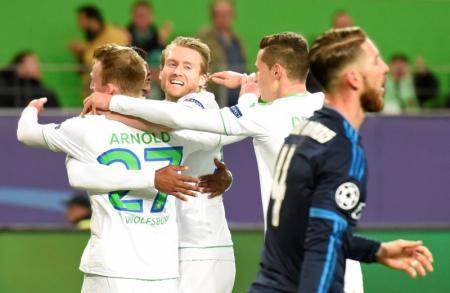 فولفسبورج يفاجئ ريال مدريد بالفوز عليه 2-صفر في دوري الأبطال