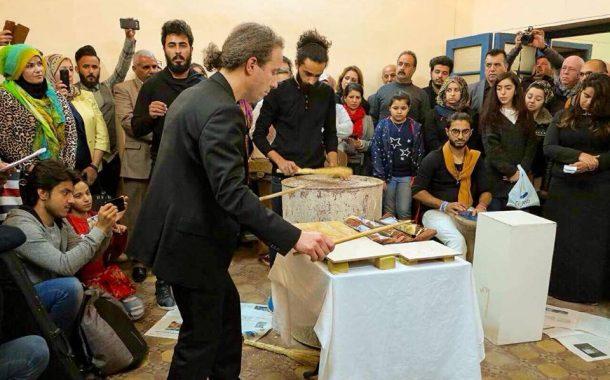 موسيقى ونصوص ورشة لألمان وبغداديون في بيت تركيب