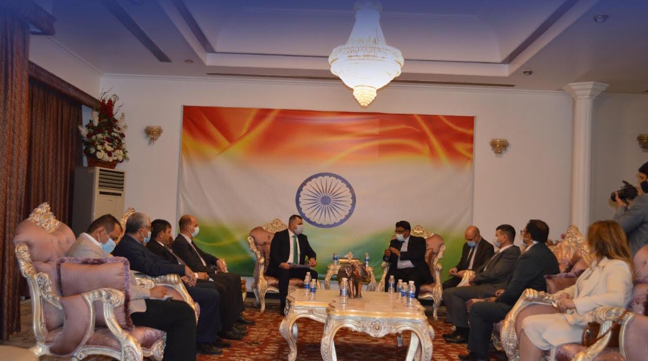 وفد غرفة تجارة بغداد يلتقي السفير الهندي لبحث التعاون التجاري