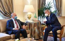 وزير الخارجية العراقي يبحث مع أمين الجامعة العربية سبل تعزيز العمل العربي المشترك